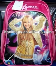 2012 new latest hannah montana school bag/backpack