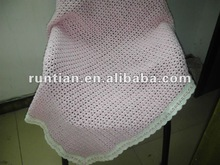 Softer Cotton Blend Hand Crocheted baby's Blanket
