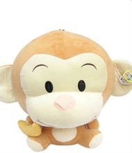 smooth color plush toy monkey