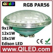 green IP65 par56 12w led swimming pool light