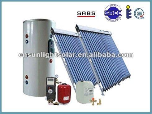 เครื่องทำน้ำอุ่นพลังงานแสงอาทิตย์แรงดันกับท่อความร้อน