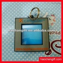 2012 hot sale eco-friendly soft pvc photo frame keychains