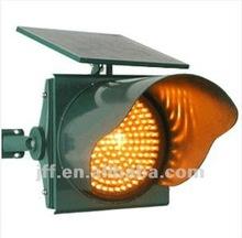 LED solar flashing traffic light