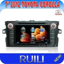 RL-313HGDR 2012 New 7 inch Toyota corolla car radio gps DVB-T