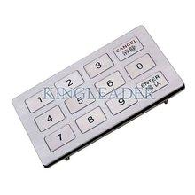 vandalism proof stainless steel keypad with 12 flat keys