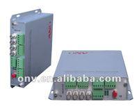 4 Channel Audio Talkback Fiber Optic Transmitter and receiver for transportation supervisory system