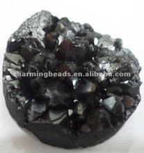 CH-LSB0246 Coating agate druzy cabochon/druzy stone jewelry 25mm size