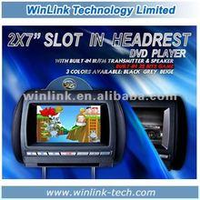 """2012 Hot sale 7"""" LCD screen car dvd player Headrest"""