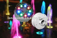 IP68 9W12W RGB LED Fountain jet Lights, 12v/24v, Factory Price