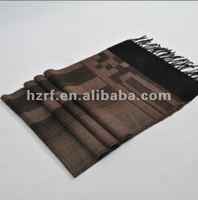 Male funds 100% wool stripe jacquard weave scarf
