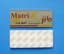 custom metal sticker with printing logo(BS-JL-MS-032802)