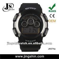 JM374 fashion sports digital led mens black watch