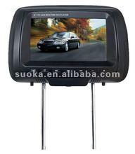 HOT--8'' Car Headrest DVD Player with IR/FM/GAME/TV