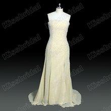Hot Sale 2012 No Risk Shopping Designer Strapless Beading Chiffon Floor Length Plus Size Prom Dress