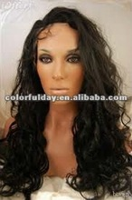 Ladies' hot sale wave malaysian hair wig , Natural Soft Texture