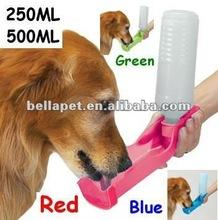 dog drinking bottle water bottle