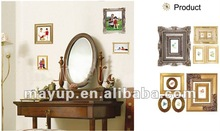 wooden photo frame like decal wall sticker