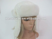 cheap Russia style winter earflap faux fur hat