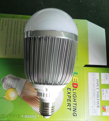 dimmable 12*1W LED bulb,AC85-265V input, warm white or cool white;around 1200lm 2