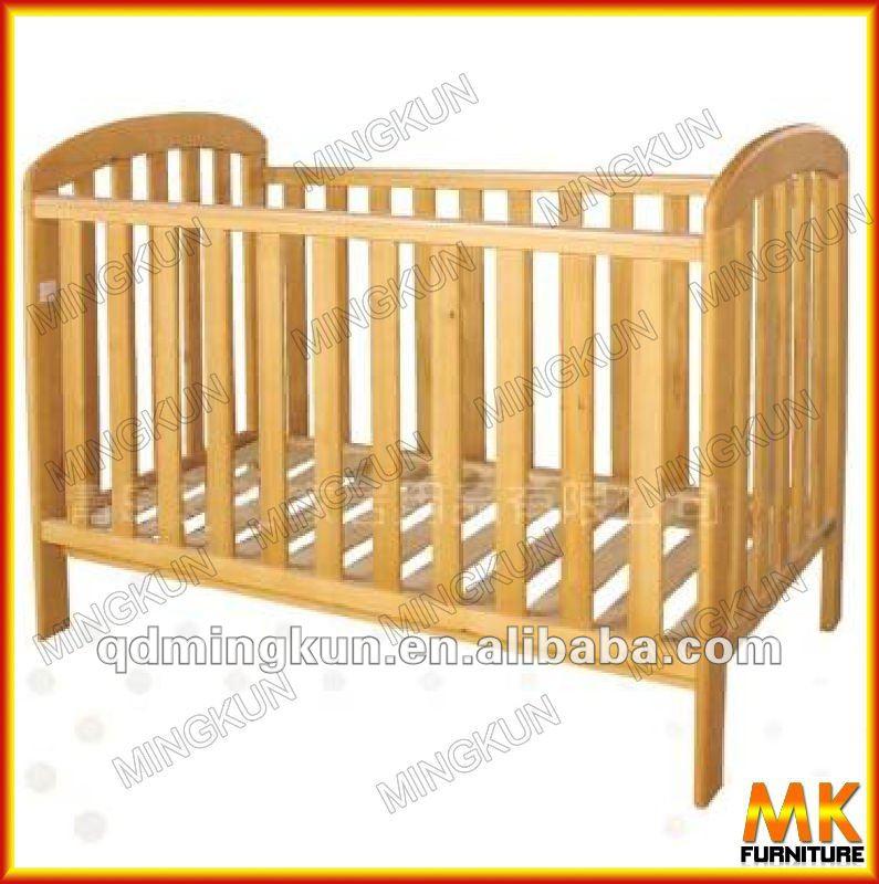 Madera cuna cama para beb muebles de dormitorio camas - Cuna de madera para bebe ...