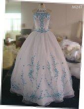(A6247) Guangzhou Stephanie 2012 Gorgeous Popular Beaded Royal Blue Wedding Dresses