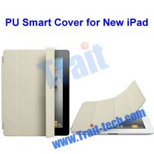 Cute PU Leather smart cover for New iPad 3 (many in stock)