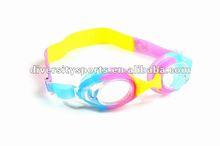 2012 New Cartoon Colorful Kids Sillicone Swim Goggle