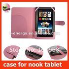 leather case for B&N nook tablet,Pink