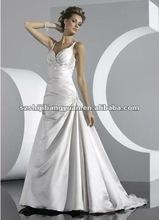 SJ1054 white hot sale wholesale lace beaded bridal dress