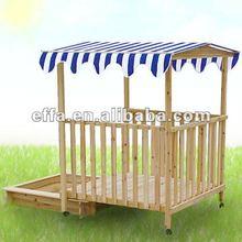 Outdoor Wooden Garden SandPit Sandbox Sand Pit Box Child Play Children Sun Shade