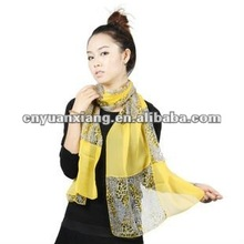 digital printing 2012 new style lady's silk scarf