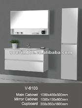 2012 Popular Modern MDF Mirrored Bathroom Cabinet Model No.V-6103
