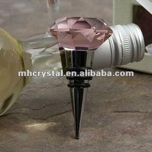 Pink Diamond Crystal Wine Bottle Stopper MH-QT0148