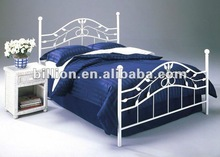2012 china manufacturer new design wrought iron double beds antique beds decorative beautiful beds