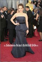 Elegant 2012 the 84th Oscar Black Taffeta Tina Fey Dress Celebrity Dresses