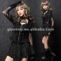 Japonya Cosplay Punk Gotik Lolita 61223 + mini etek elbise
