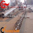 horizontal screw conveying equipment system for ash powder