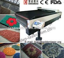 2012 Laser Cutting Carpet Tile By Golden Laser Machine