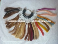 COMPLETELY human hair color ring/chart chart