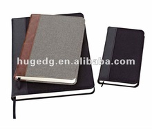 2012 hot selling practical fabric notebook
