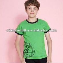 2012 hot sale cotton children o-neck sleeve sports T shirt