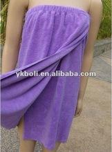 Terry Microfiber Purple Bath Wrap Towel,70x140cm(BS-005)