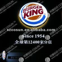 Store Front burger king outdoor shop led letter sign