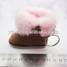 fashion boot shoes keyring for promotional