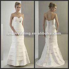 N076 Free shipping new model design ruffle dresses wedding 2012