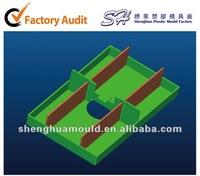 China Rapid Prototyping by CNC/SLA/SLS for Plastic Display Tray with Dividers Prototypes