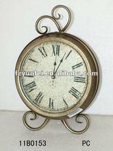 2012 new design antique mental table clock
