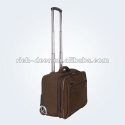 leather laptop trolley bags with nylon material