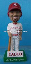 resin bobble head baseball player