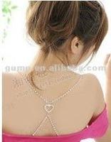 pretty heart rhinstone bra strap ( GBRD0145)